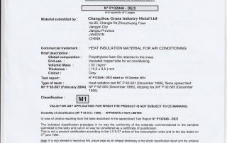 Insulation CE M1 Certification